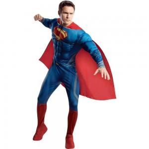 スーパーマン 衣装、コスチューム DLX 大人男性用 マン・オブ・スティール