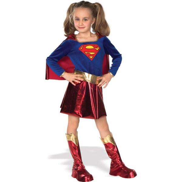 スーパーガール SUPERGIRL コスチューム、コスプレ衣装 子供女性用